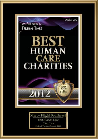 Best Human Care Charities Award 2012